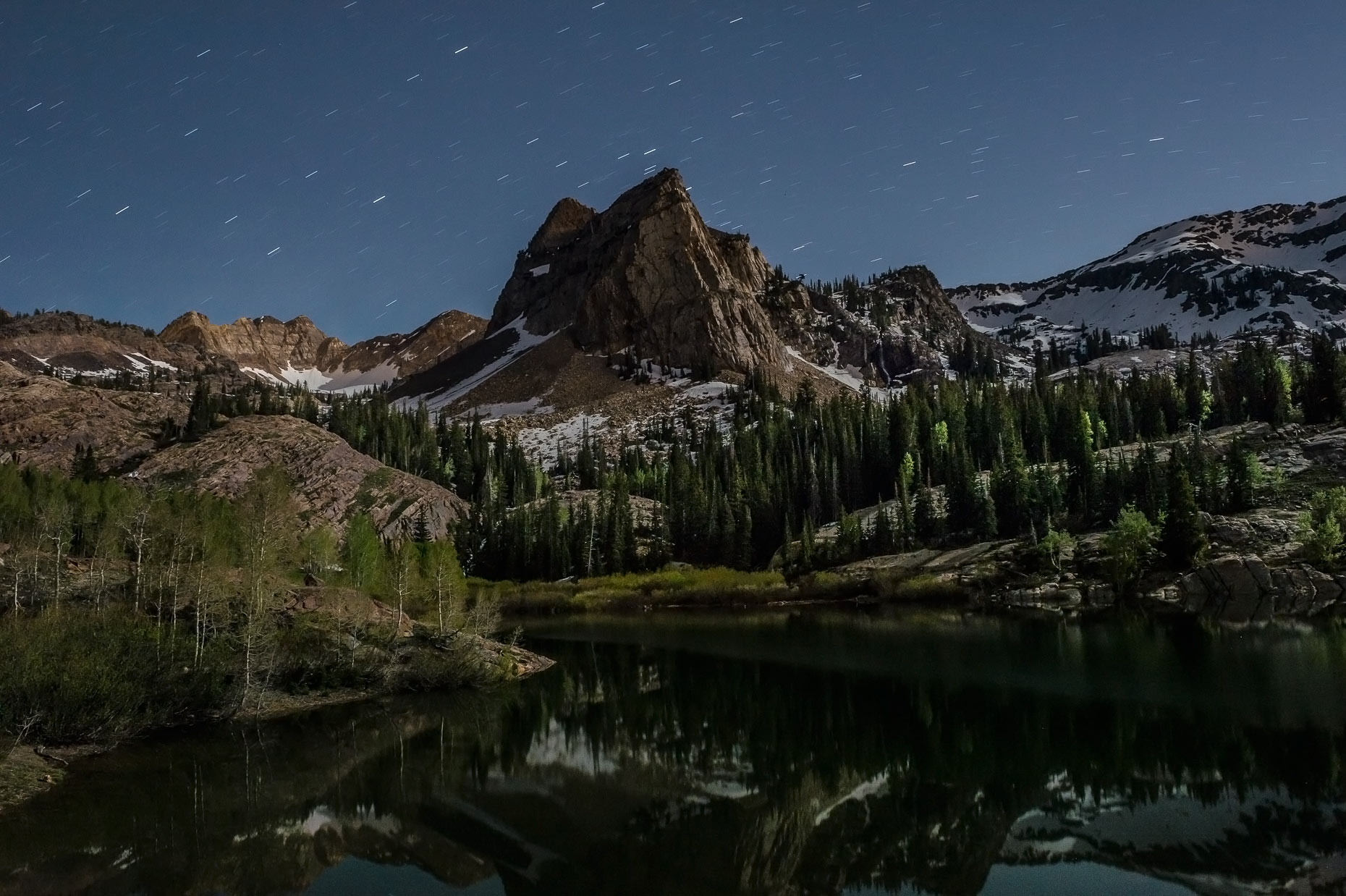 Landscape Photography - Lake Blanche at night in Utah