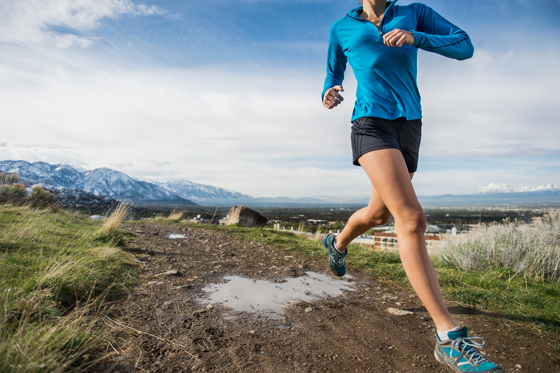 Sports Photography - Female Trail Runner Wasatch Front