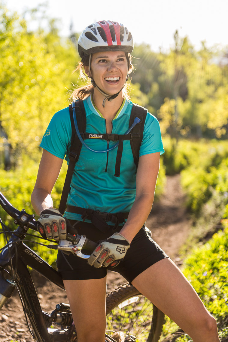 Sports Photography - Portrait of Female Mountain Biker