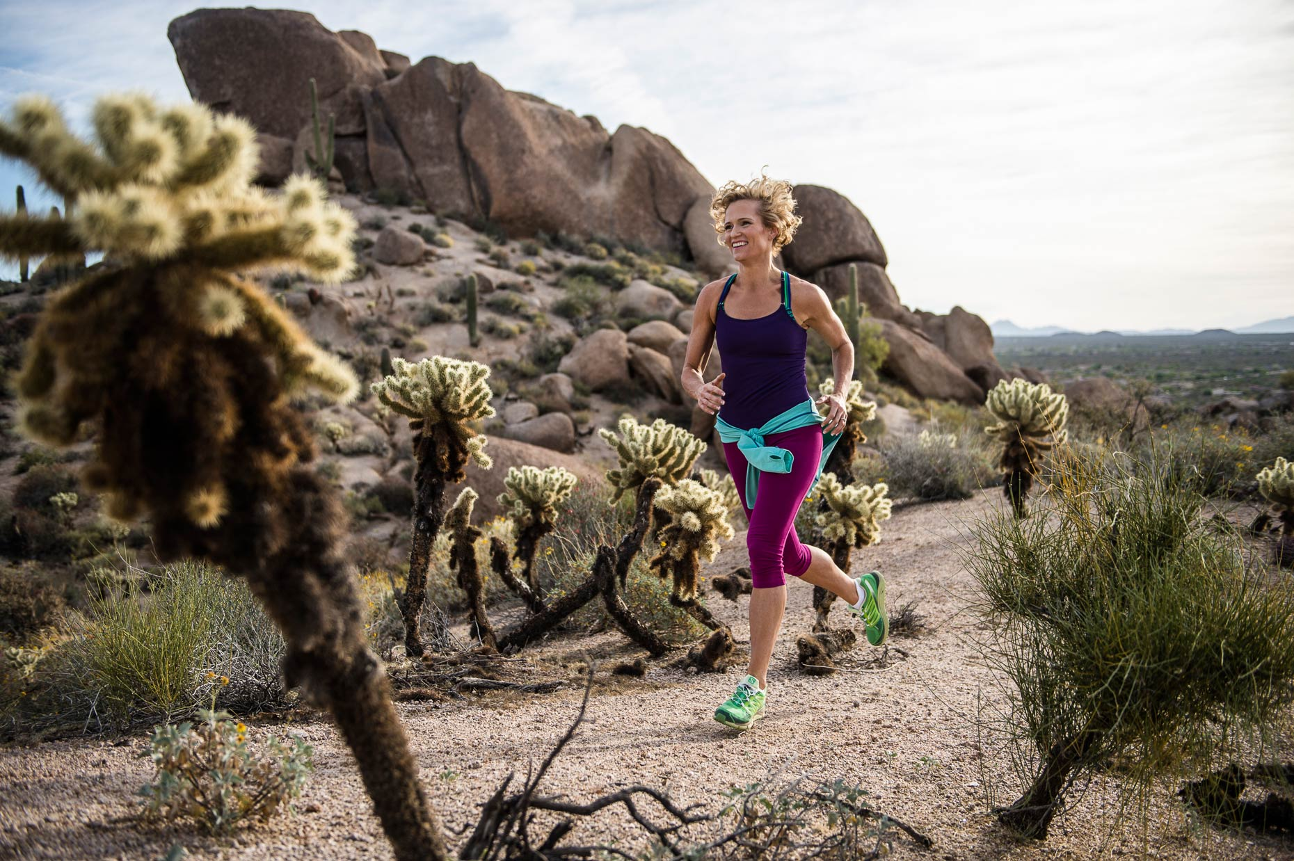 Sports Photography - Trail Running In the Arizona Hills