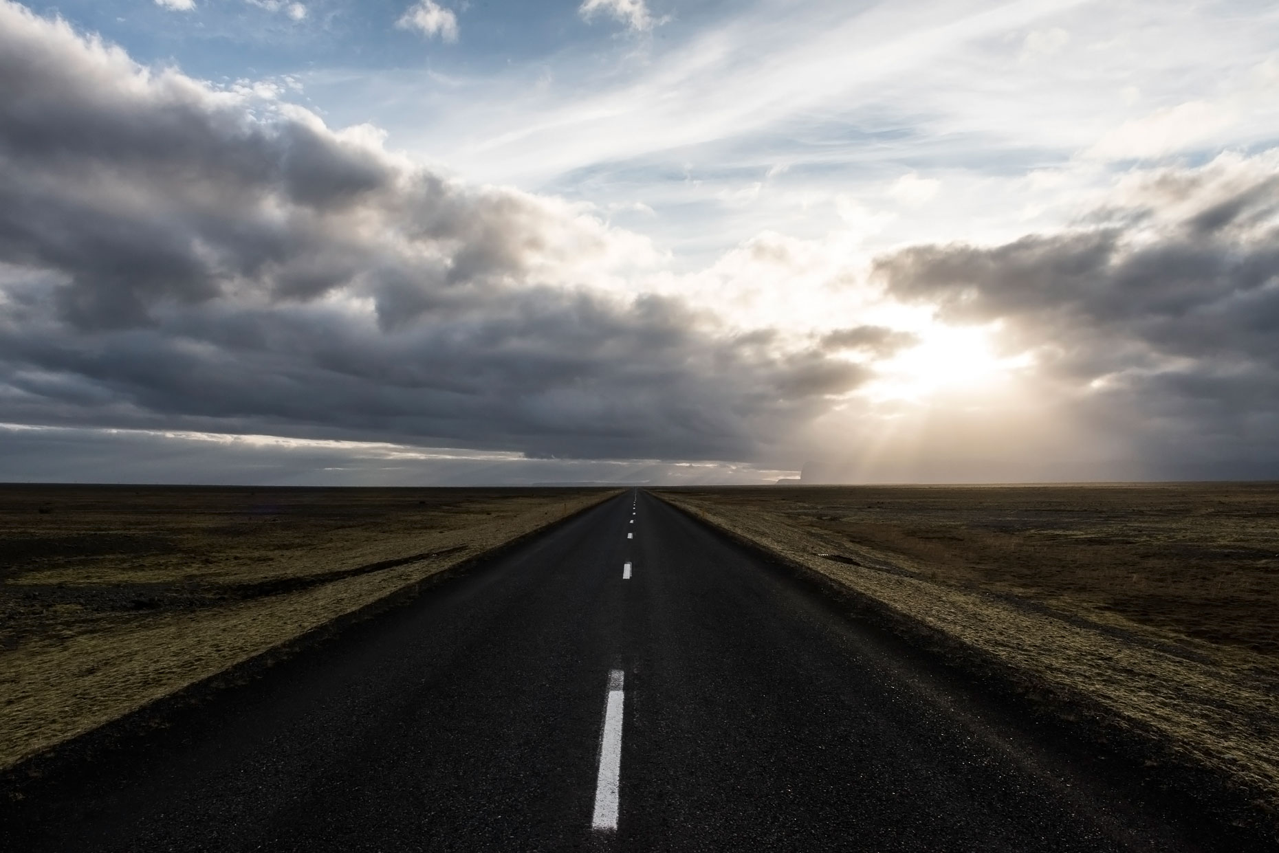Landscape Photography - Iceland Road Sunset Landscape