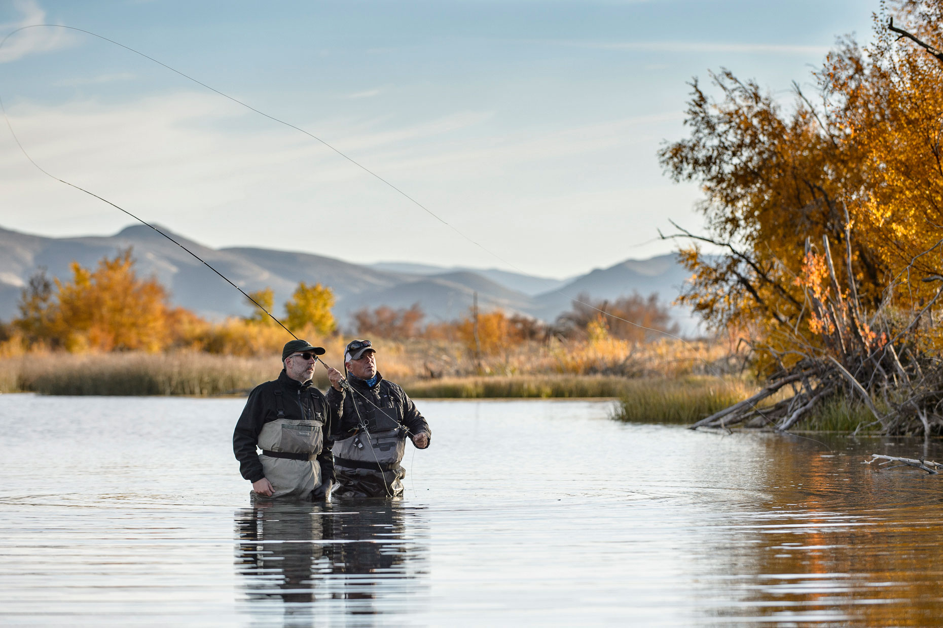 Active Lifestyle Photography - Men Fly Fishing in Idaho