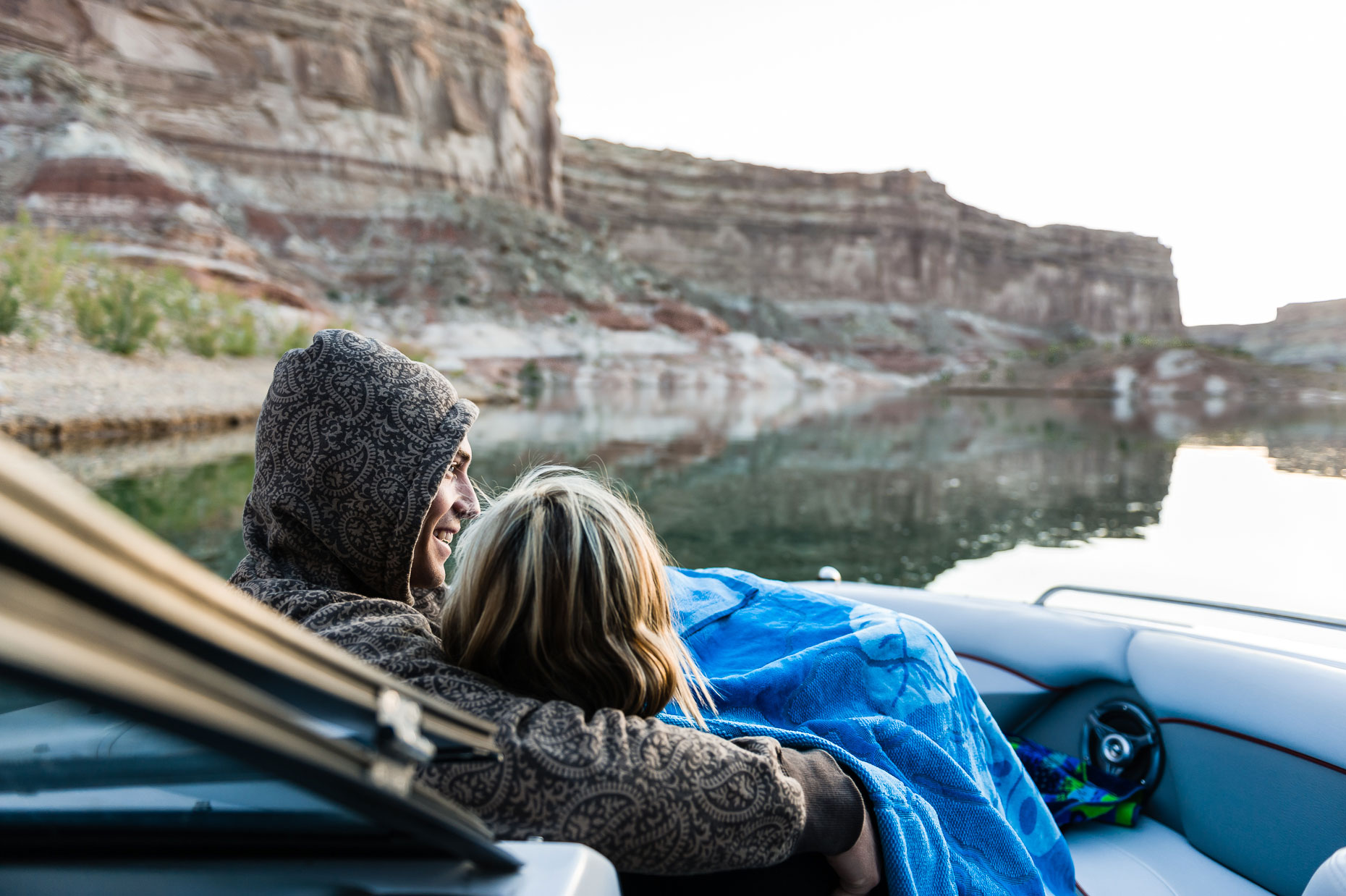 Active Lifestyle Photography-Lake Powell Couple on Boat