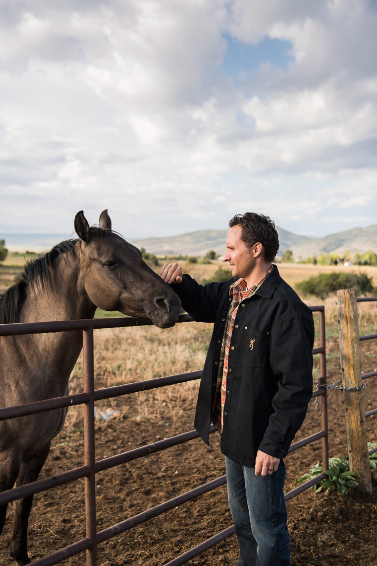 Active Lifestyle Photography-Rancher and Horse Portrait