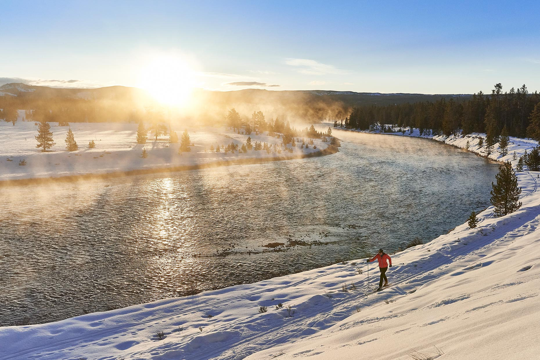 Commercial photography-Cross Country Skiing
